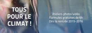 """""""Tous pour le climat !"""" est un appel de la Mairie de Paris aux structures parisiennes pour sensibiliser le public aux problématiques du climat. La mgi propose 10 ateliers aux écoles et collèges."""
