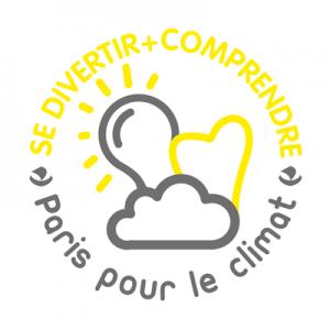 """Logo Paris poir le Climat - """"Se divertir + comprendre"""""""
