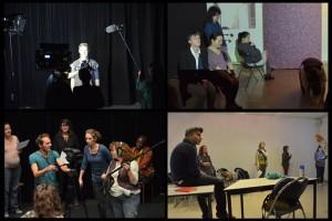 Retours sur les ateliers de pratique en théâtre son vidéo avec Marie PIEMONTESE / Florent TROCHEL, Frédérique RIBIS / Stéphane SCHOUKROUN, Simon BACKES / Güldem DURMAZ, dans le cadre de la formation pluridisciplinaire en octobre 2015 en partenariat avec l'ANRAT, le FAP et la Mgi