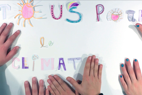 Projet photo/vidéo avec des CM2 de l'école Planchat (20e) dans le cadre de Tous pour le Climat !