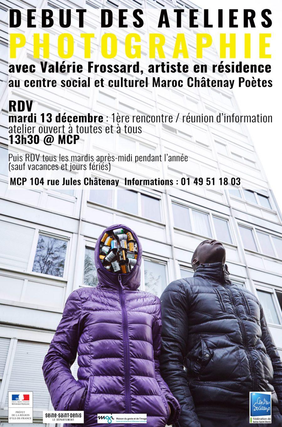 Démarrage des ateliers au centre social et culturel Maroc Châtenay Poètes à Pierrefitte avec Valérie Frossard