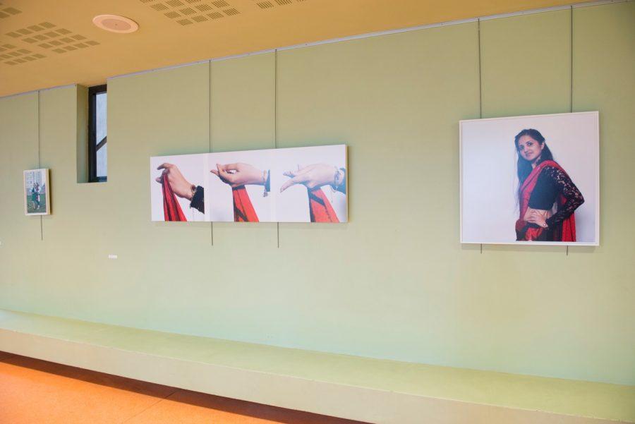 Vue de l'exposition «Ce n'est pas une maison mais mille», Médiathèque de Villemomble, 2016