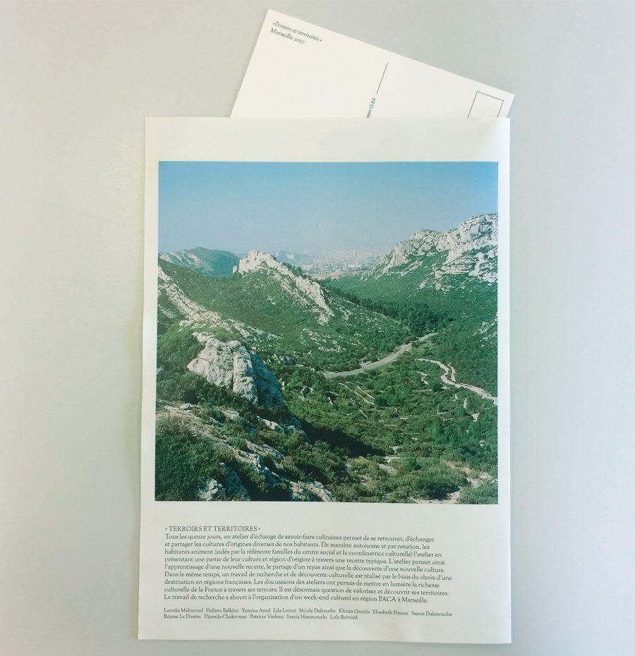 Journal de bord photographique des participantes aux ateliers « échanges et savoir-faire culinaires » et « Terroirs et territoires » au centre Ambroise Croizat à Pierrefitte-sur-Seine