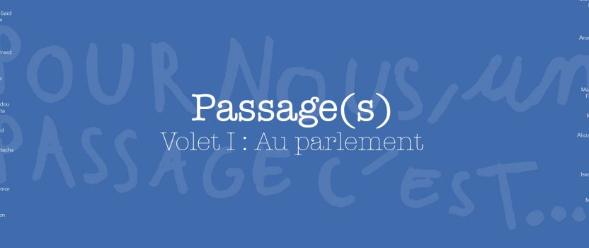 <strong>Passage(s) &#8211; Volet 1 : Au parlement</strong>