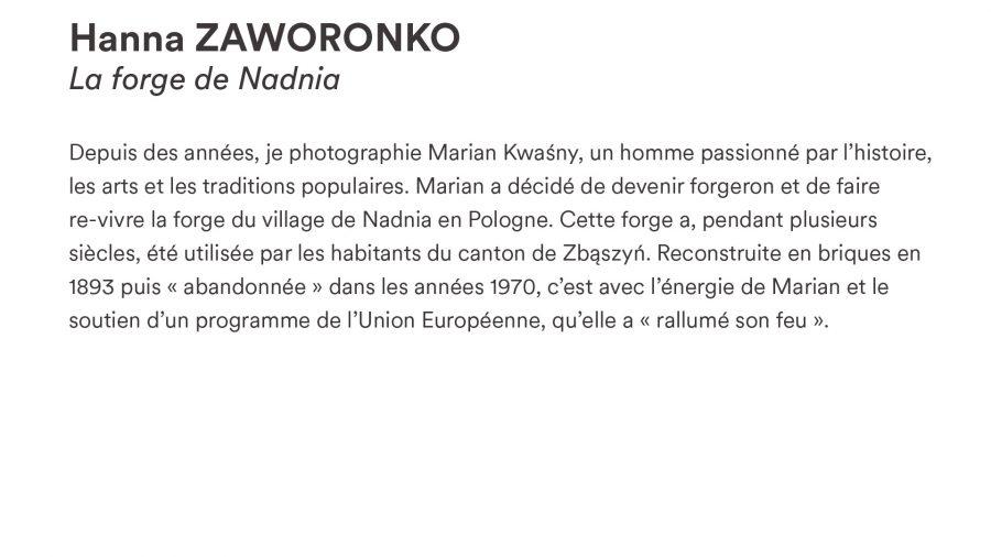 Hanna ZAWORONKO · <i>La forge de Nadnia</i>
