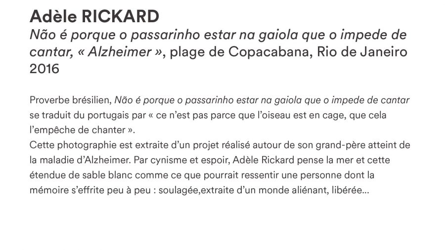 Adèle RICKARD · <i>Alzheimer</i> · 2016
