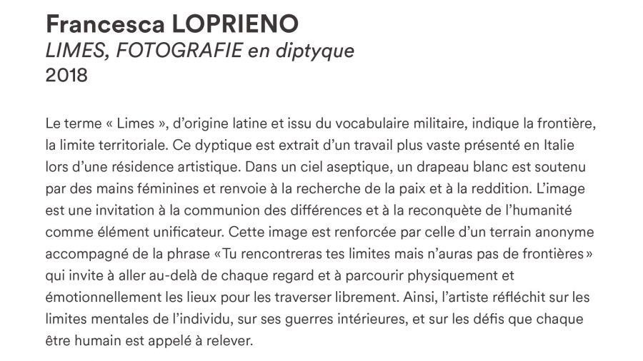 Francesca LOPRIENO · <i>LIMES</i> · 2018