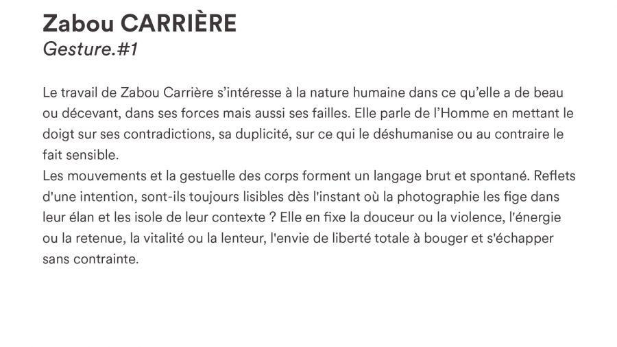 Zabou CARRIÈRE · <i>Gesture.#1</i>