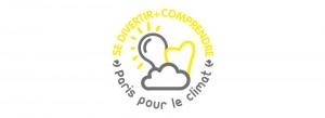 """Logo Paris pour le Climat - """"Se divertir + comprendre"""""""