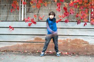 Séance photo avec des 9 / 12 ans à Pierrefitte pendant un atelier à la Toussaint